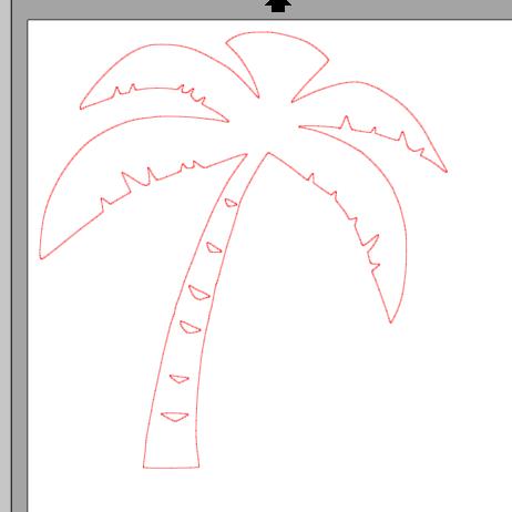 Fichier sst palmier pour silhouette studio a faire for Fabriquer un palmier artificiel