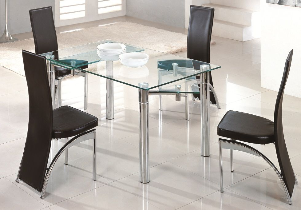 Image Result For Extendable Frosted Glass Dining Table And Chairs Clearance Folding Kitchen Table Extendable Dining Table Table