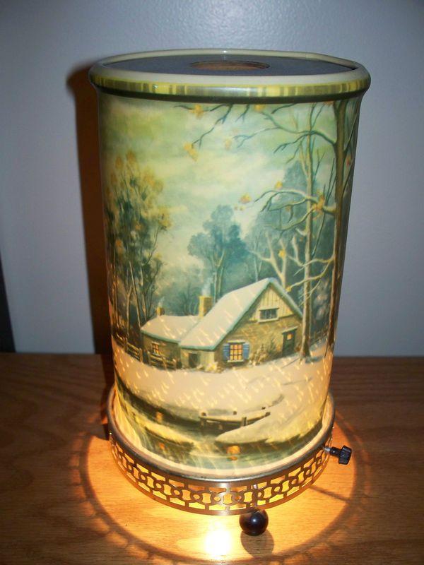 Vintage Econolite Snow Scene Bridge Motion Lamp 1957 Excellent Condition Lamp Vintage Kids Toys Vintage Lamps