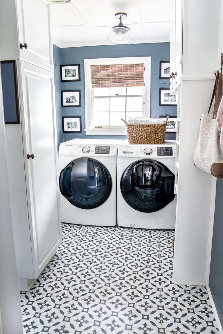 20 Patterned Floor Tiles To Make A Statement Blue Laundry Rooms