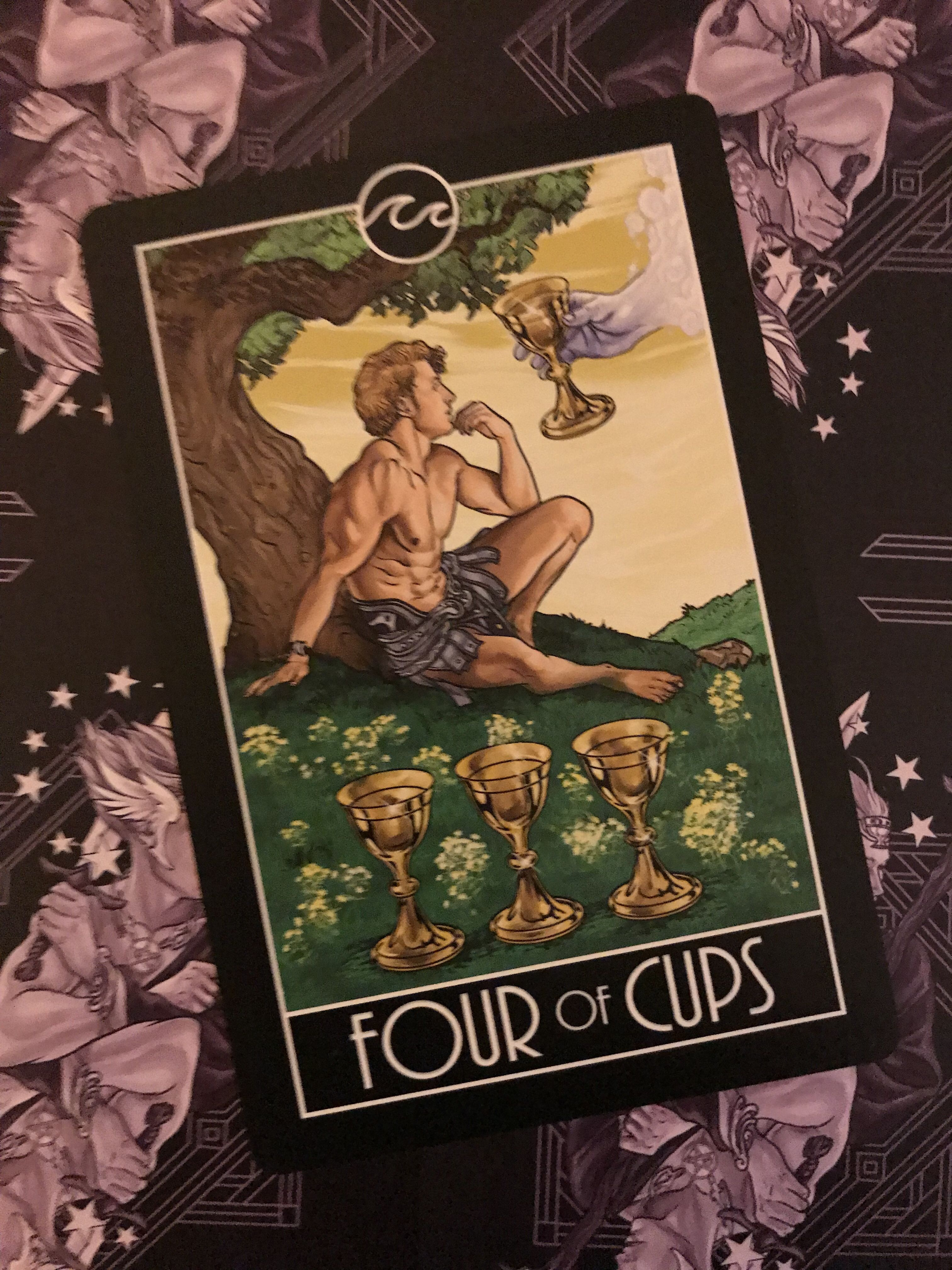 Featured card of the day 4 of cups divine diversity