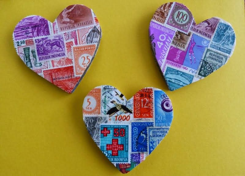Dimes and Quarters - for the love of thrifting and creativity: wooden hearts