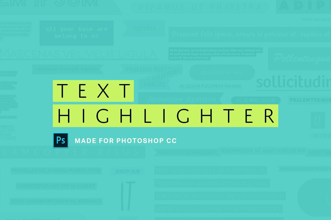 Add highlight to text photoshop