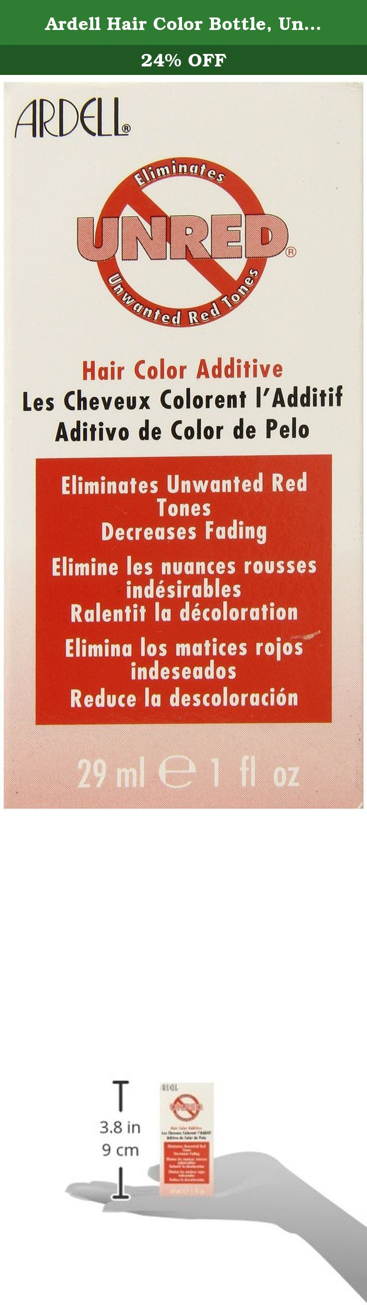 Ardell Hair Color Bottle Unred 1 Ounce Eliminates Unwanted Red