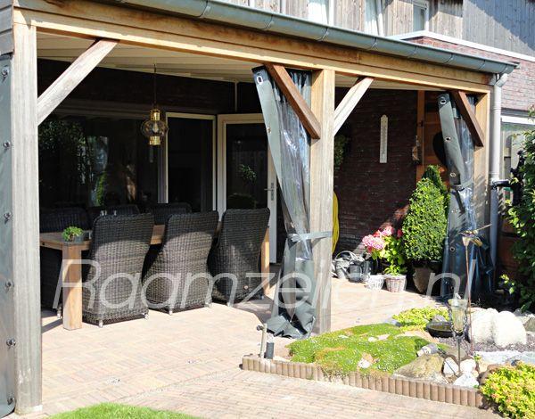 Verandadoeken verandagordijnen zeil voor veranda terraswanden tuinontwerp fase 2 - Terras zeil ...