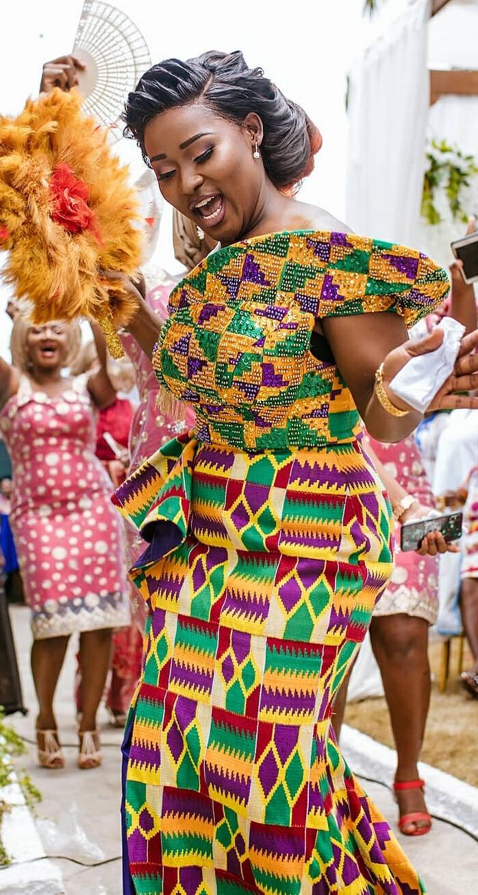 ced6bcfd51 wedding attire, kente dress | African Fashion Trends in 2019 ...