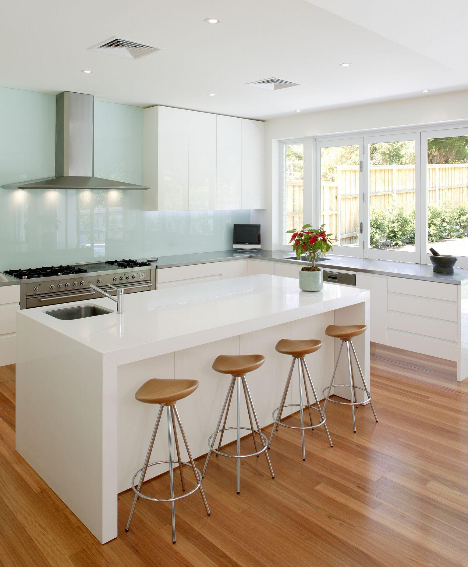 Vicostone kitchen countertops in Pure White | Kitchens in ...