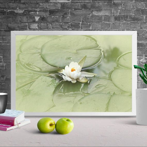 PRINTABLE art, Water Lily Print, Calming wall art, Landscape ...