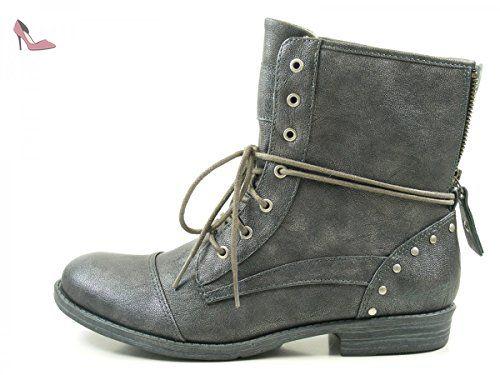 Gabor Shoes Comfort Sport, Bottes Femme, Gris (Dark-Greyldf/Ring), 37 EU