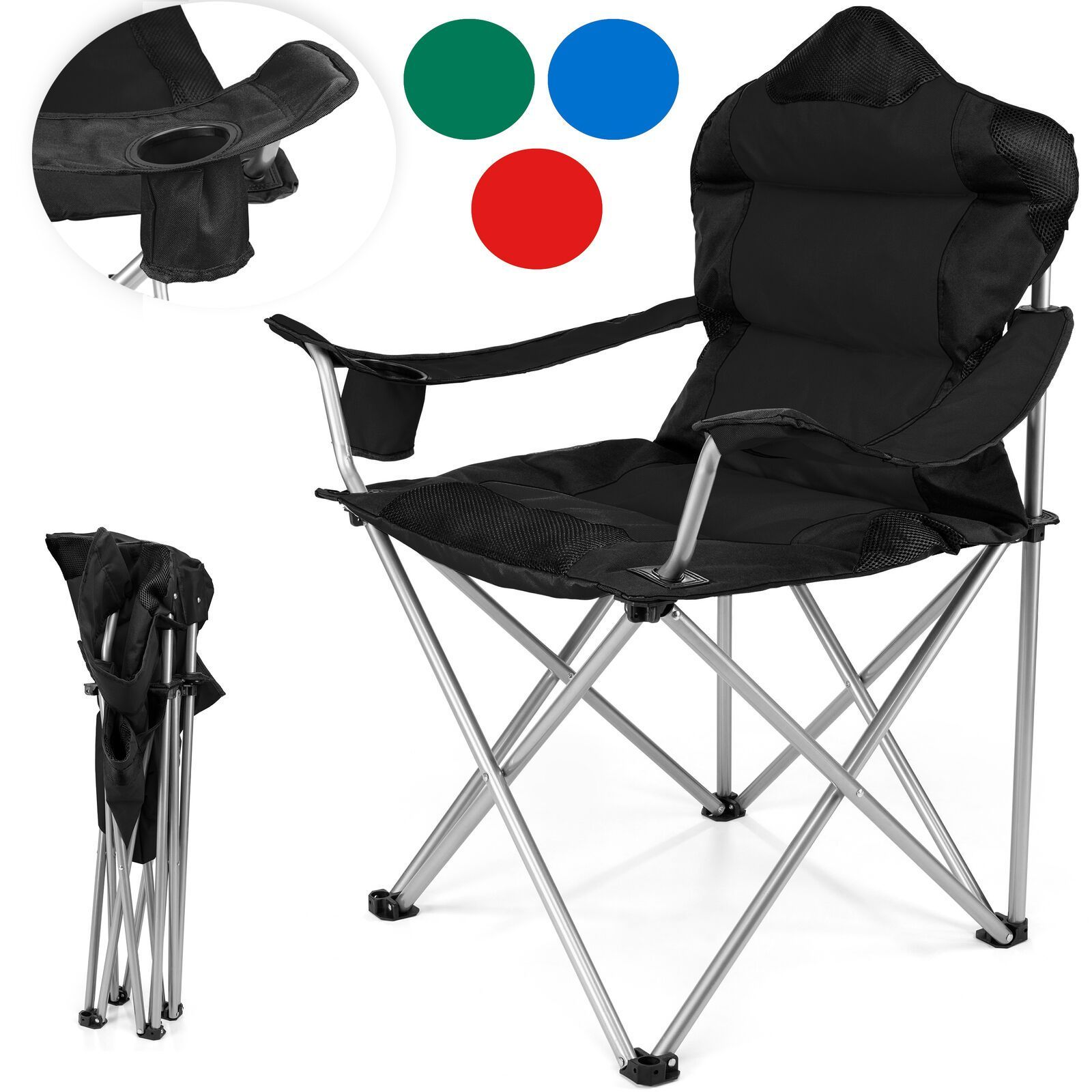 Campingstuhl Angelstuhl Faltstuhl Klappstuhl Regiestuhl Anglerstuhl Gepolstert Ebay Folding Chair Butterfly Chair Outdoor Chairs
