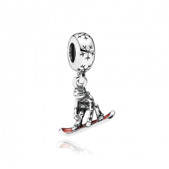 Show your passion   Snowboarder Charm   Pandora Collection   Rogers Jewelry Company