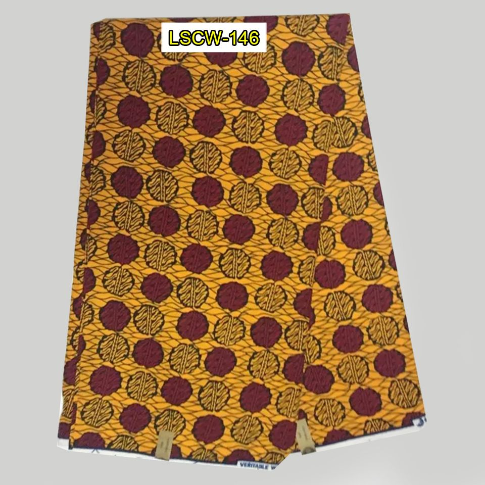 Find More Fabric Information about LSCW 146 yellow&brown AFRICAN SUPER WAX COTTON PRINT…