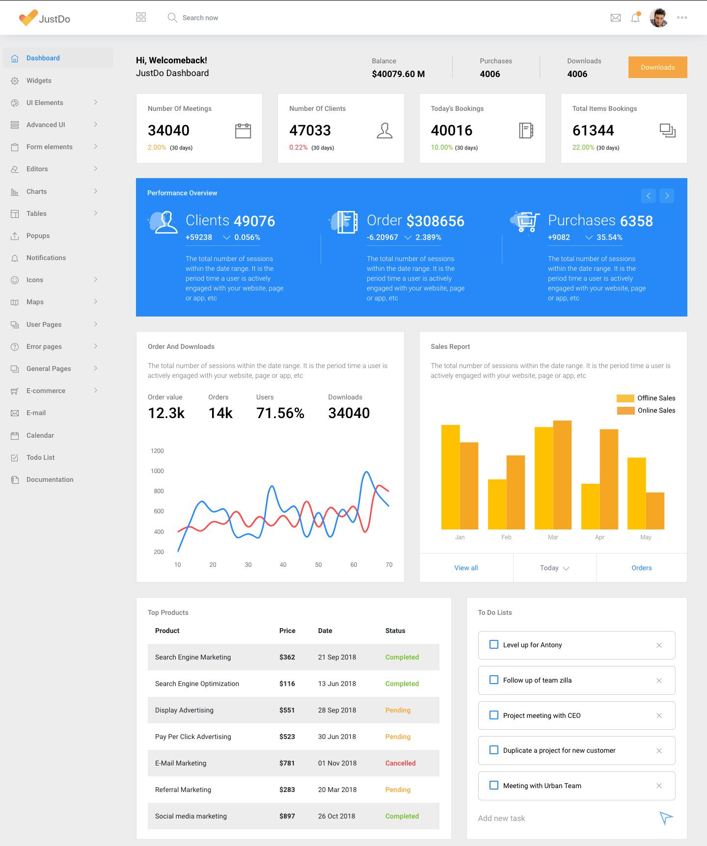 JustDo - Angular 7 Responsive Bootstrap Admin Template #Ad
