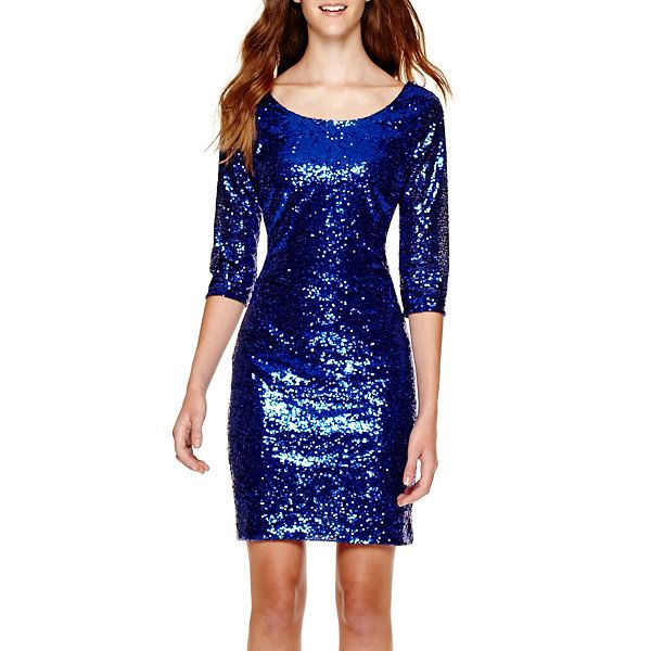 My Michelle® 3/4-Sleeve Sequin Dress - JCPenney | Clothing I Want ...