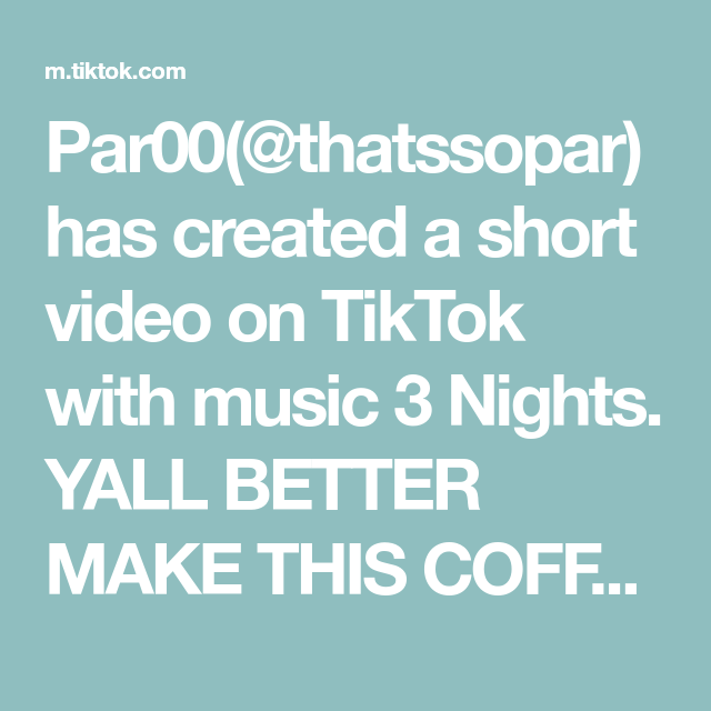 Par00 Thatssopar Has Created A Short Video On Tiktok With Music 3 Nights Yall Better Make This Coffee Its Soo Good Creamy Coffee How To Make Hot Chocolate