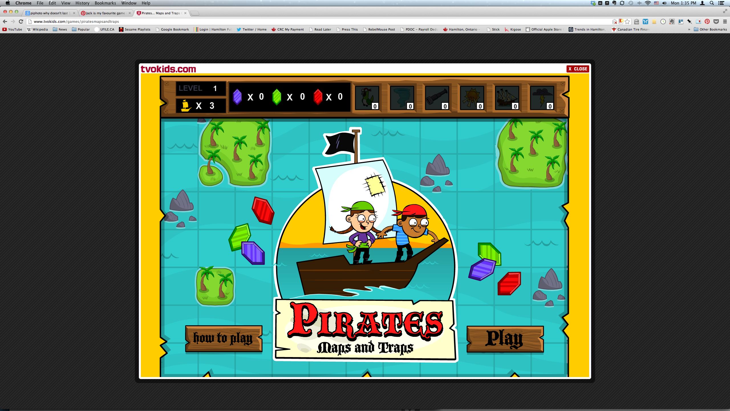 Pirates game I like this game too