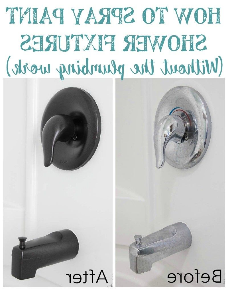 How To Spray Paint Shower Fixtures From Can You Spray Paint Bathroom - Spray paint bathroom fixtures