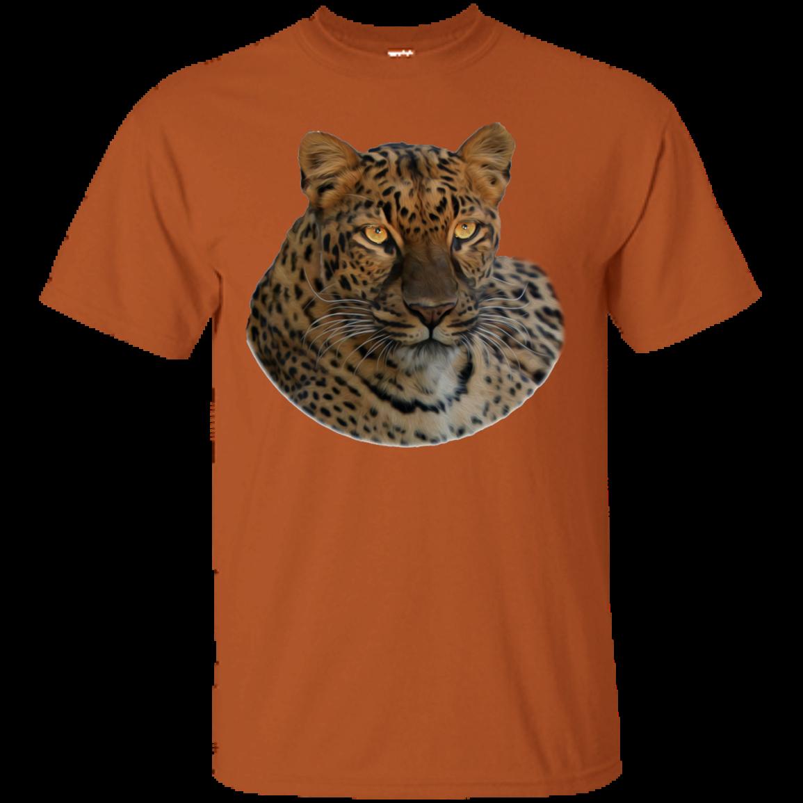 Haunting Eyes Jade Leopard Ultra Cotton TShirt Cotton