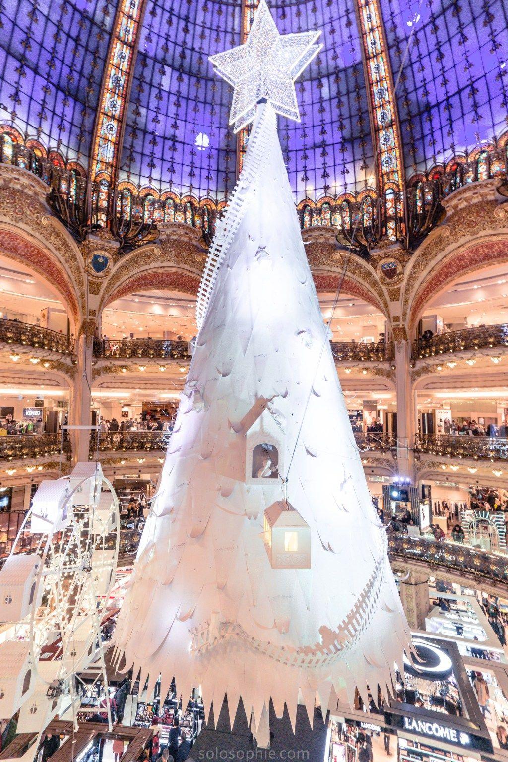 Galeries Lafayette Christmas Tree Festive Season In Paris Solosophie Christmas In Paris Christmas Travel Destinations Christmas Travel
