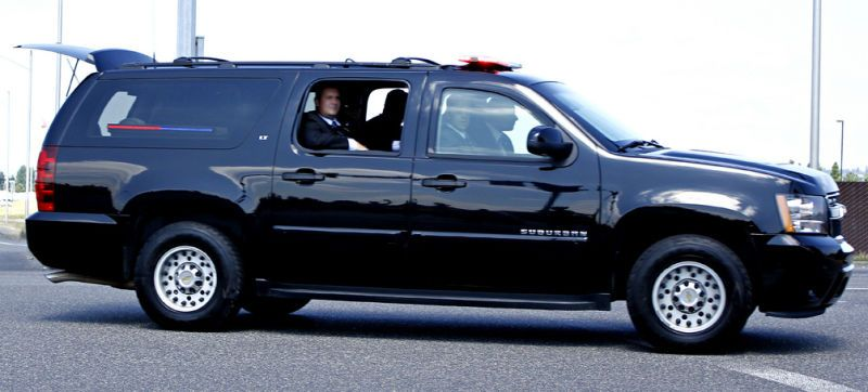 The President S Security Detail Riding In Halfback