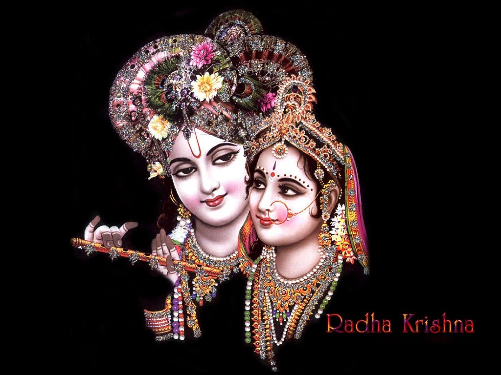 lord radha krishna in black theme poster | hd wallpapers rocks