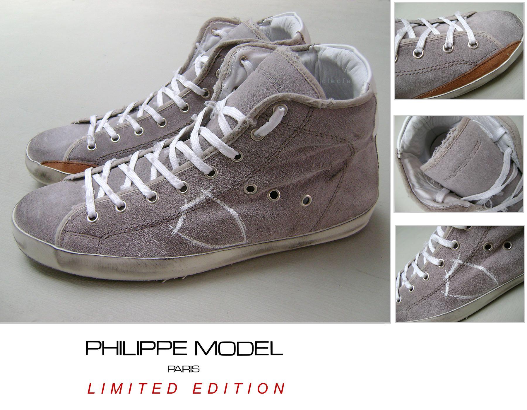 Scarpe Sneakers PHILIPPE MODEL - Modello LIMITED EDITION ALTO col. Grigio  Chiaro Stupenda Edizione Limitata afb475ebc7e