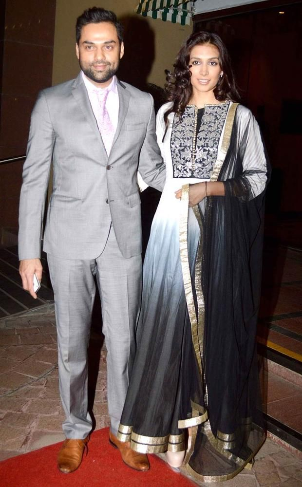 Abhay Deol And Preeti Desai At Aamna Sharif Amit Kapoors Wedding Reception Fashion