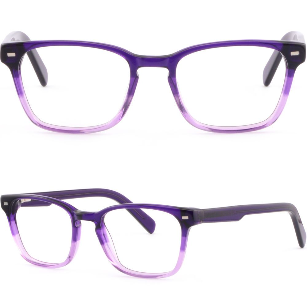 e5650a47405 Square Women s Plastic Frame Spring Arms Purple Prescription Glasses  Transitions  Unbranded