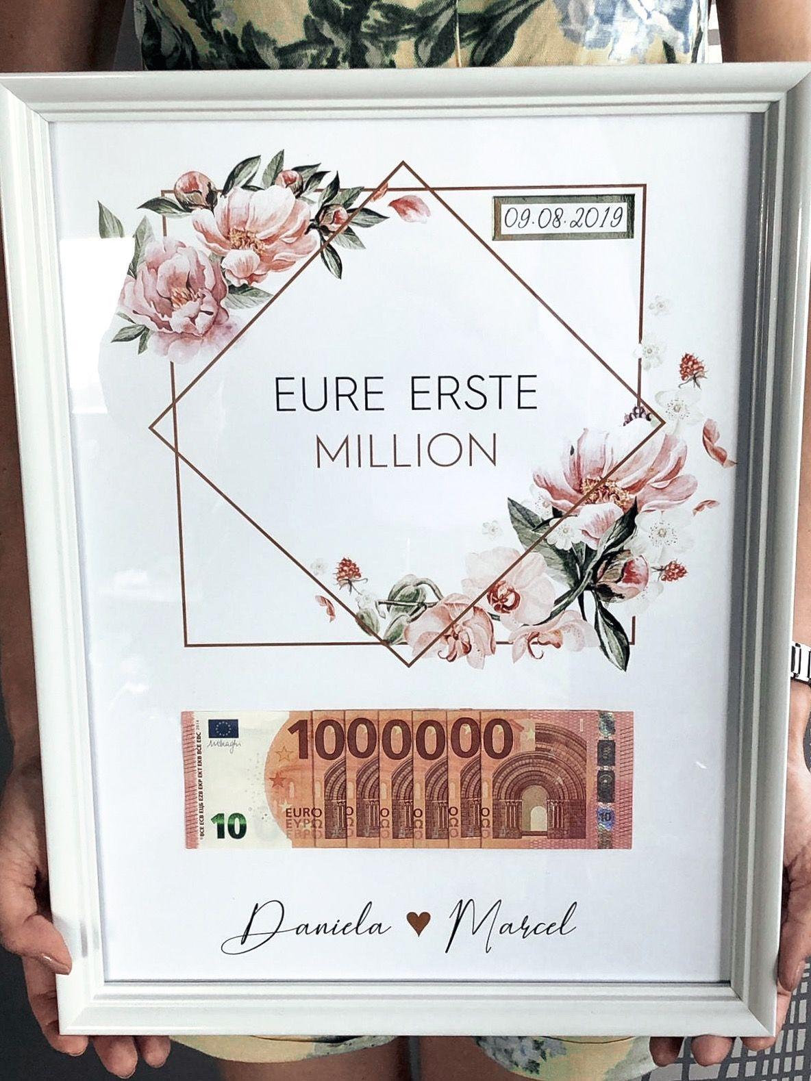 Hochzeitsgeschenk – Ein Geldgeschenk für die Hochzeit ist immer schwierig und in einem…