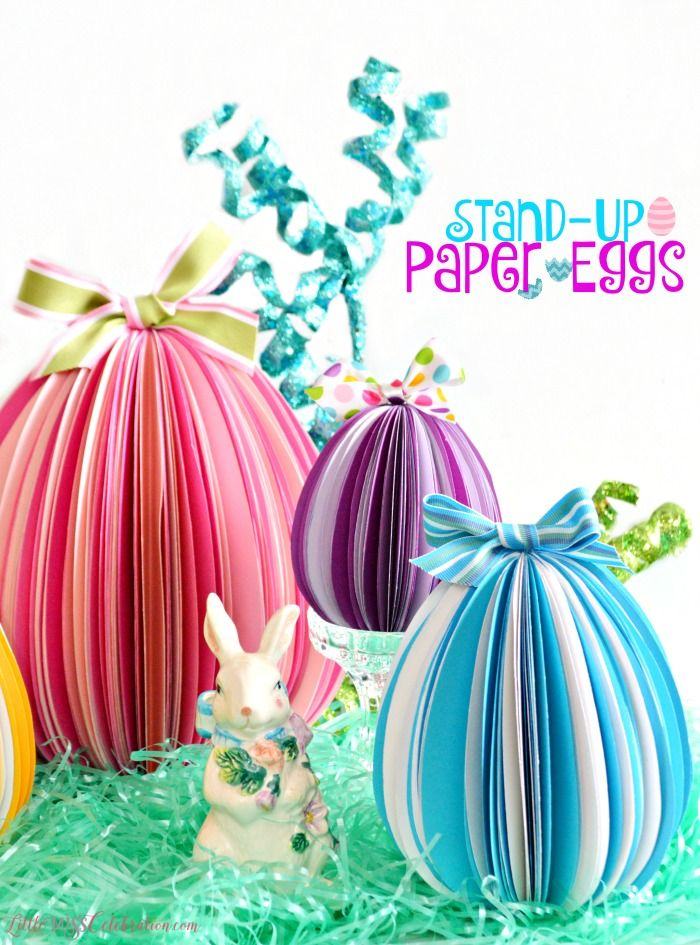 Stand Up Paper Eggs Easter Easy Easter Crafts Easter Crafts Easter