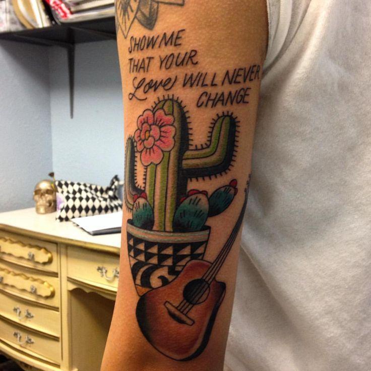 Cactus tattoo with lights lyrics by jessamyn felker art