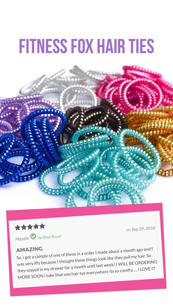 Fitness Fox Hair Ties - Tele Cord Hair Ties - No Rip Hair Ties- Telephone ac43158069e