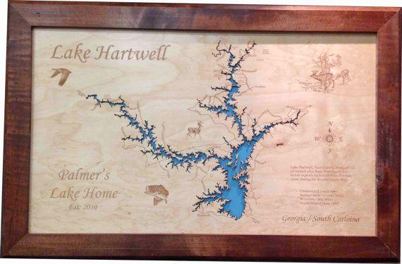 lake hartwell sc map Pin On Lake Maps lake hartwell sc map