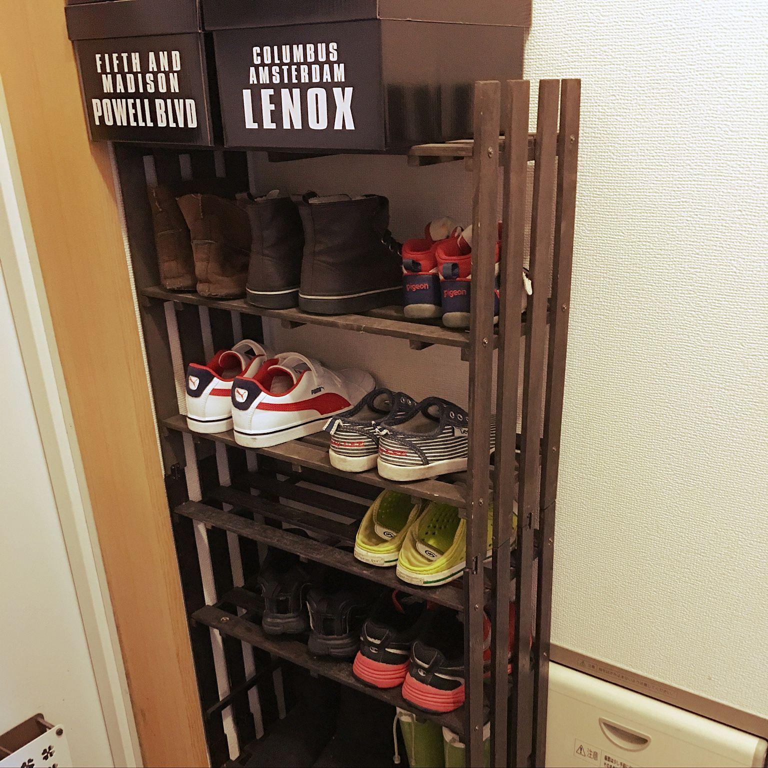 玄関 入り口 子供用靴箱 すのこ ダイソー 雑貨 などのインテリア実例 2016 08 05 14 19 25 Roomclip ルームクリップ 片付け収納 100均 収納 収納 アイディア