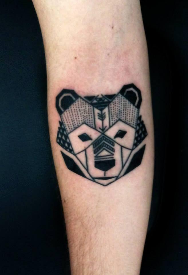 Twotattoo Tatuaje Oso Geometrico Tattoos Tattoos Cute Tattoos