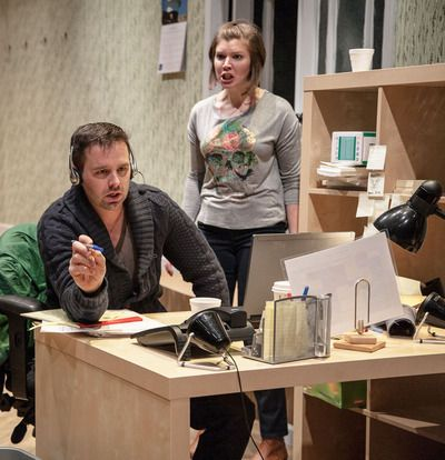 ASSISTANCE by Live Wire Theatre, Review – Endless Workplace Madness   Splash Magazines   Los Angeles