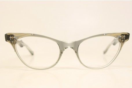 3e706d7ba8ba6 Unused Graysmoke Rhinestone Vintage Cat Eye Glasses