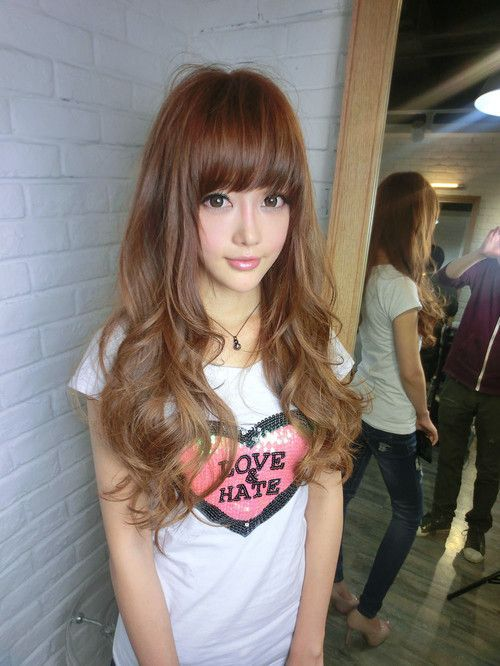 Japanese Hair Style ロングパーマヘア ヘアスタイル ロングヘア