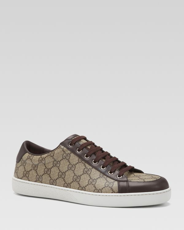 c08550150d Gucci Brooklyn Gg Supreme Canvas Lace-Up Sneakers | Gucci | Sneakers ...