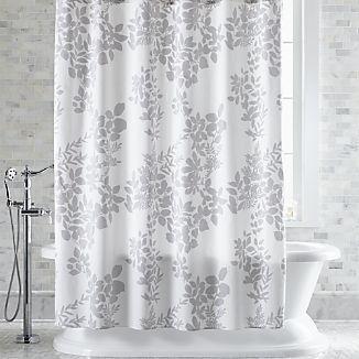 Marimekko Kukkula Grey Shower Curtain Gray Shower Curtains