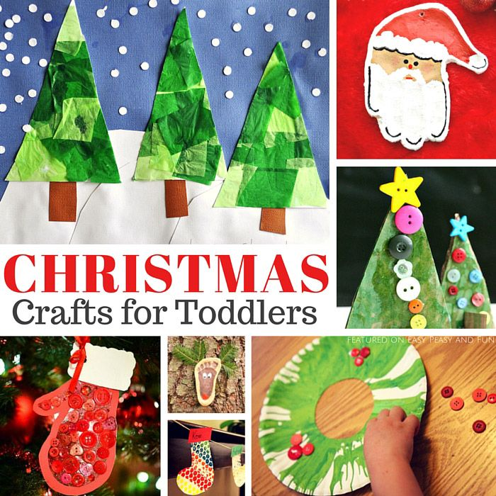 Simple Christmas Craft Ideas Part - 45: Simple Christmas Crafts For Toddlers - Easy Peasy And Fun