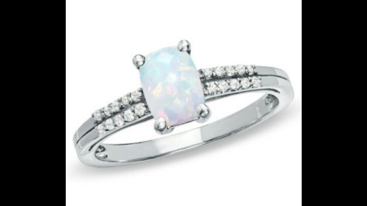 Opal Engagement Ring From Zales Candy Colored Diamonds