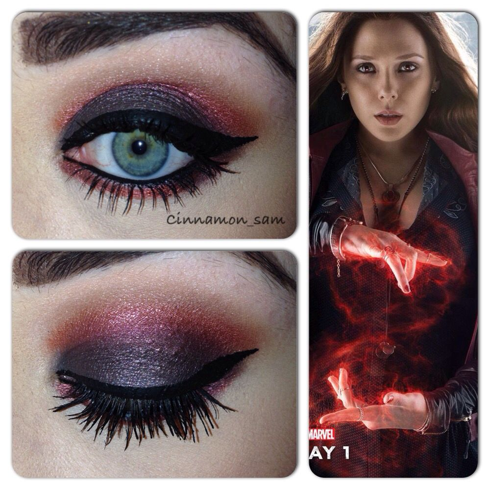 My Latest Avenger Themed Makeup Based On Wanda Maximoff Aka The