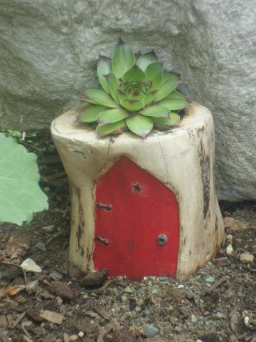Little fairy house made from driftwood
