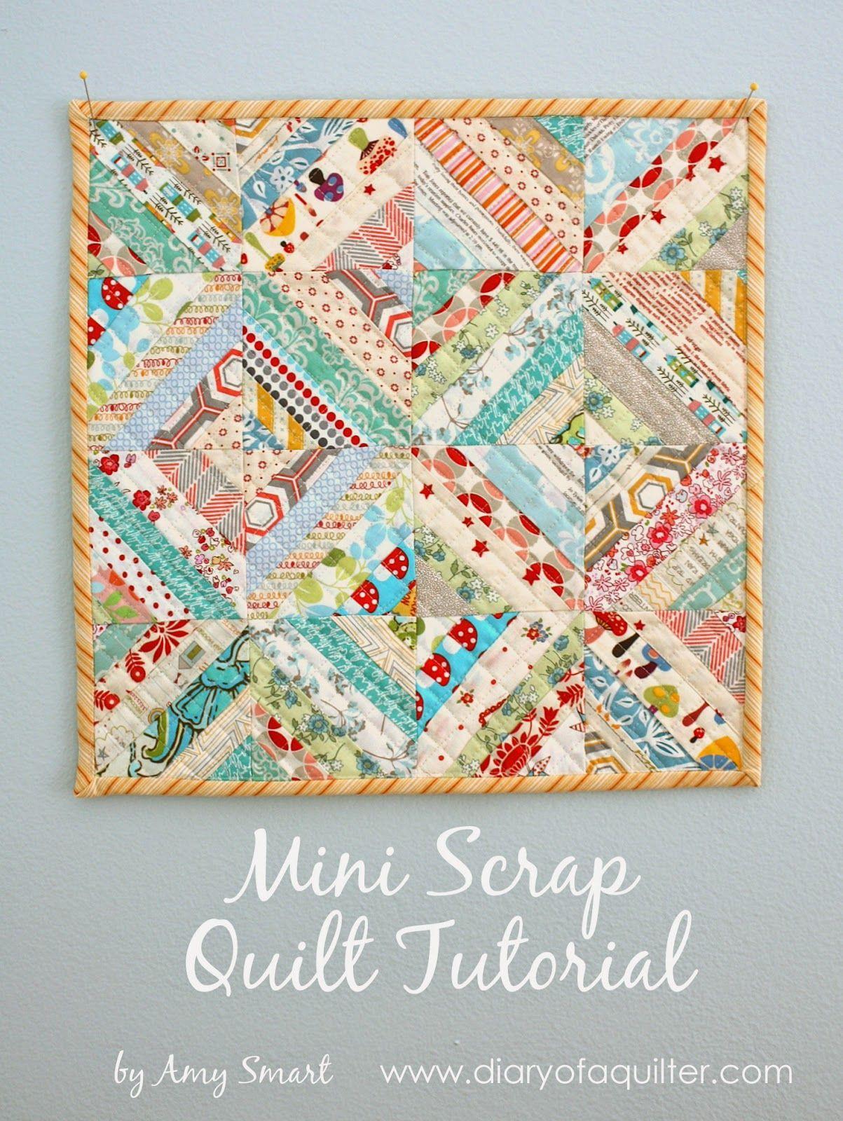 Gorgeous mini scrap quilt tutorial scrap special guest and gorgeous mini scrap quilt tutorial baditri Choice Image