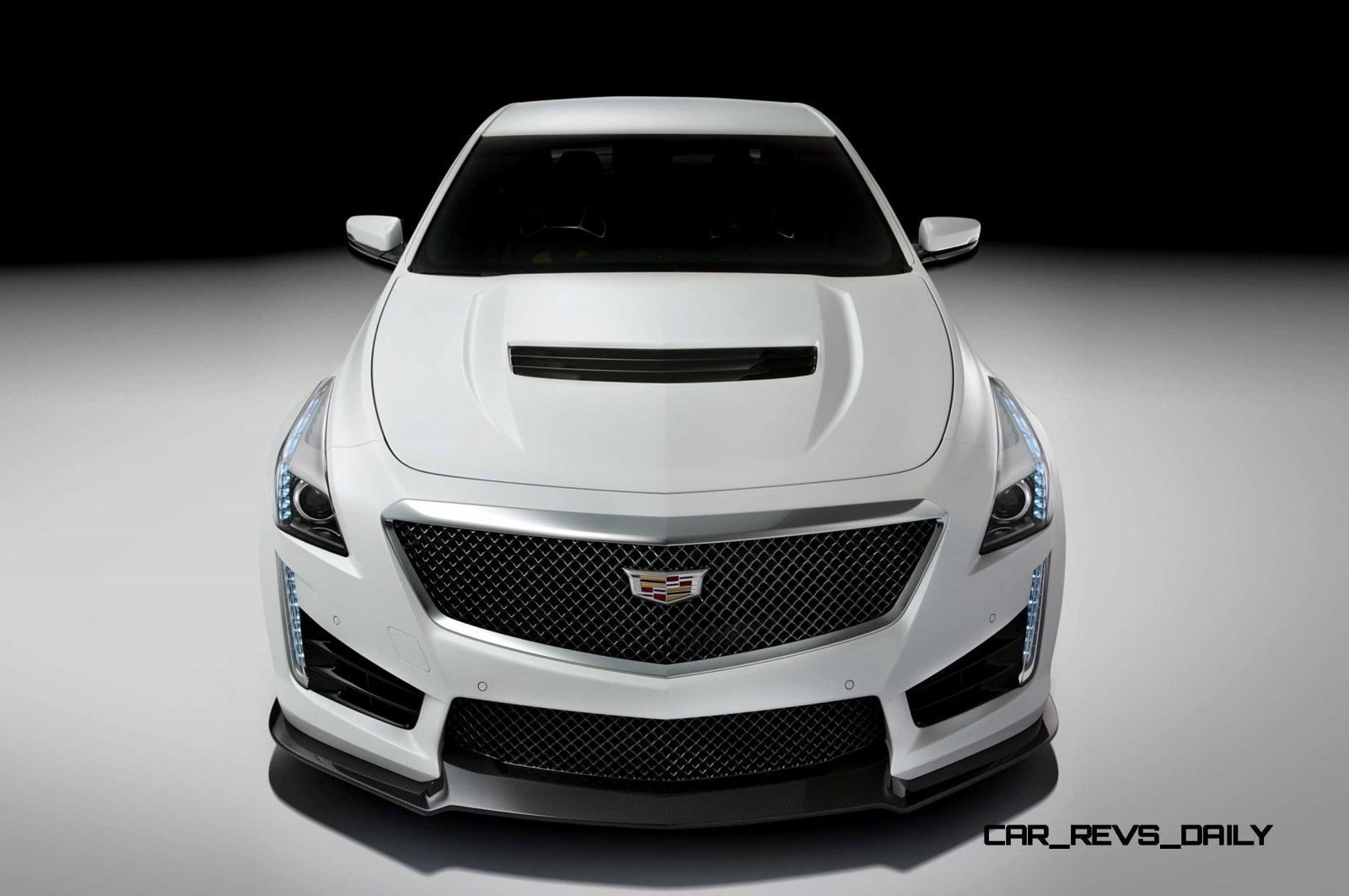 2016 Cadillac Cts V Crystal White Tricoat 2