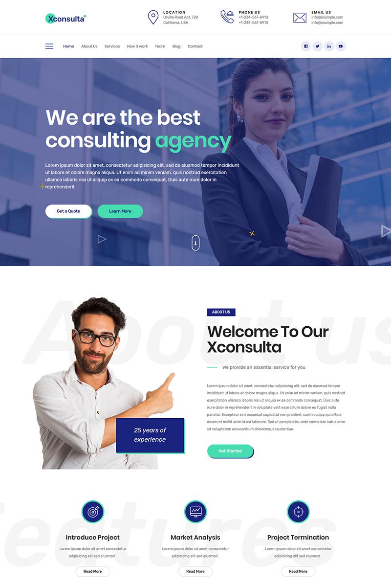 Xconsulta Business Multi Purpose Wordpress Theme A Modern And Responsive Design Business W Business Web Design Corporate Website Design Corporate Web Design