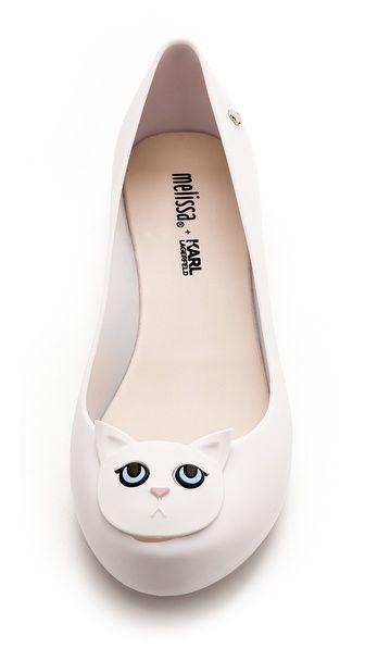 Melissa Melissa Karl Lagerfeld Ultragirl Cat Flats Shopbop Melissa Shoes Cat Shoes Shoes