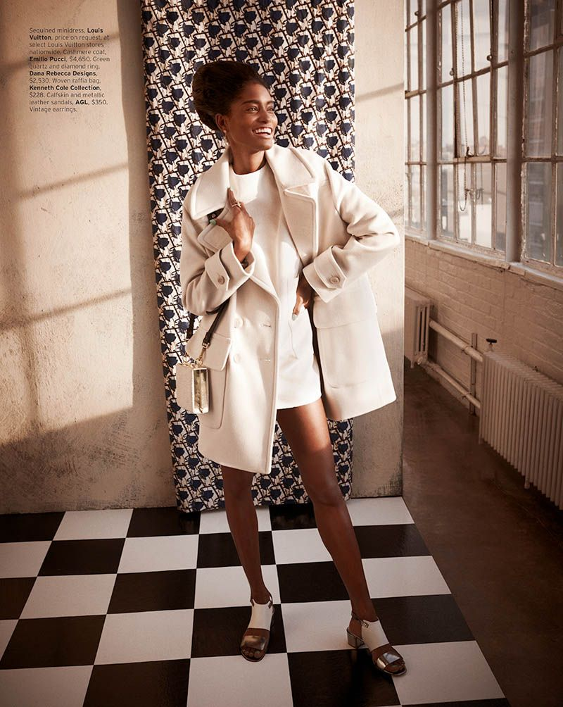 Melodie monrose is s glam for mariano vivanco in elle us april