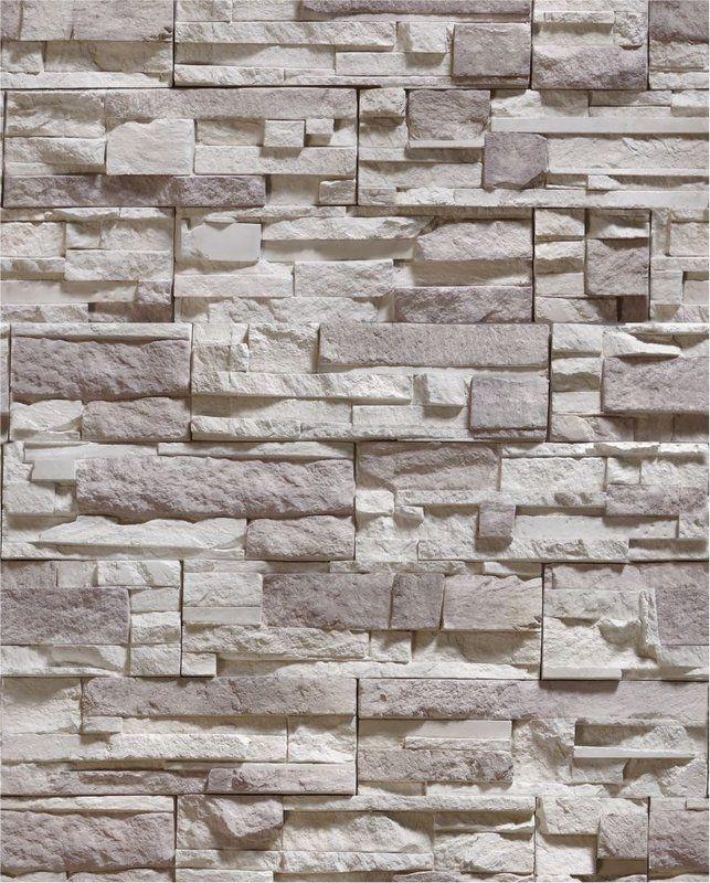 Papel de parede pedra mosaico em tons de cinza e bege for Mosaico adesivo 3d